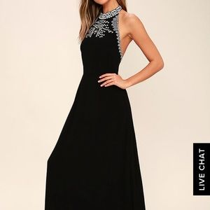 LuLu's 'Mark My Words' Embroidered maxi dress